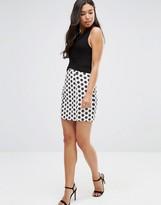 Sugarhill Boutique Monochrome Flower Skirt
