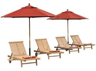 Beachcrest Home Myler Sun Lounger Set