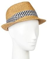 Merona Fedora Hat with Check Band Tan