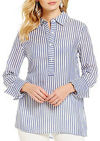 M.S.S.P. Long Sleeve Striped Button Down Shirt