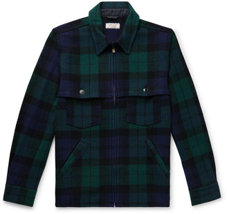 J.Crew Wallace & Barnes Checked Wool-Blend Jacket
