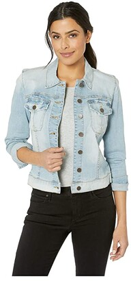 KUT from the Kloth Amelia Jacket in Compensate w/ Light Base Wash (Compensate w/ Light Base Wash) Women's Clothing