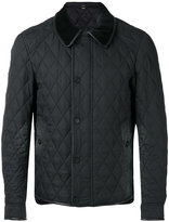 Burberry diamond quilted jacket - men - Polyamide/Polyester/Acetate/Viscose - 48