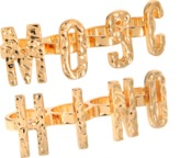 Moschino Lettered Ring Set
