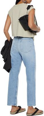Rag & Bone Ruth Distressed High-rise Straight-leg Jeans