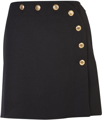 Givenchy Buttoned High Waist Lace Skirt