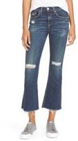 Rag & Bone Ripped High Rise Crop Flare Jeans
