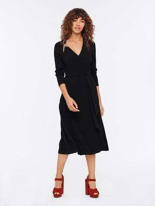 Diane von Furstenberg Scout Crepe Midi Wrap Dress