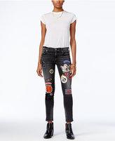 True Religion Halle Patch Black Rebel Wash Skinny Jeans