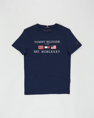 Tommy Hilfiger Flags Alpine SS Tee - Teens