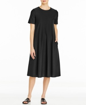 Eileen Fisher Crewneck Dress, Available in Regular & Petite Sizes