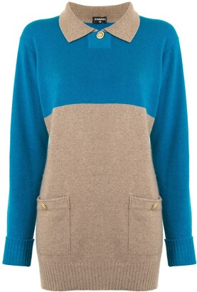 Chanel Pre Owned Cashmere Classic Collar Jumper