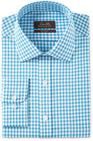 Tasso Elba Men's Classic/Regular Fit Herringbone Gingham Dress Shirt, Only at Macy's