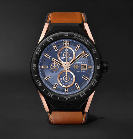 Tag Heuer Kingsman x  Connected Modular 45mm Ceramic and Leather Smart Watch