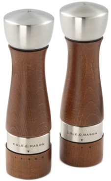 Cole & Mason Oldbury Walnut-Stained Salt & Pepper Mill Set