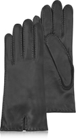 Forzieri Women's Cashmere Lined Black Italian Leather Gloves