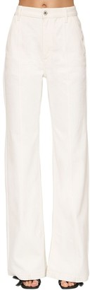 Loewe High Waist Cotton Denim Flared Jeans