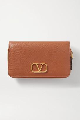Valentino Garavani Vsling Textured-leather Wallet - Brown