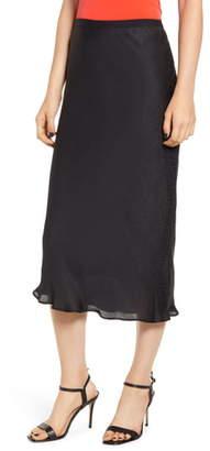 Chelsea28 Satin Midi Skirt