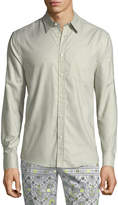 Trina Turk Aaron Patch-Pocket Sport Shirt