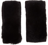 Yves Salomon Black Rex Rabbit Fur and Cashmere Gloves