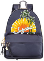 See by Chloe Sun Nylon Backpack, Navy/Multi