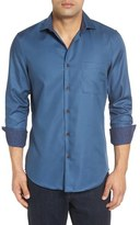 John W. Nordstrom Regular Fit Diamond Jacquard Non-Iron Sport Shirt (Regular & Tall)