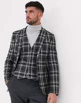 Asos Design ASOS DESIGN super skinny blazer in grey check