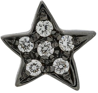 Carolina Bucci 18kt Black Gold Diamond Star Earring