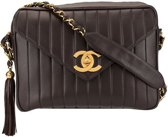 Chanel Pre Owned 1995 Jumbo XL Mademoiselle chain shoulder bag