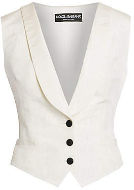 Dolce & Gabbana Women's Stretch-Silk Button Vest