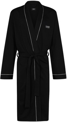 HUGO BOSS Logo Embroidered Dressing Gown