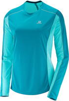 Salomon Enamel Blue & Blue Radiance Agile Long-Sleeve Tee - Women