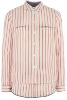 Bonjour embroidered red stripe pyjama set