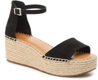 Kelly & Katie Women's Fredrick Espadrille Wedges Sandals Black Size 5 Fabric or faux leather upper From Sole Society