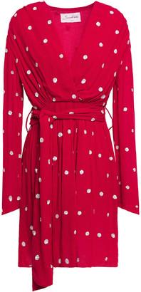 SUNDRESS Nataly Sequined Crinkled Gauze Mini Dress
