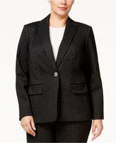 Calvin Klein Plus Size Pinstriped Jacket