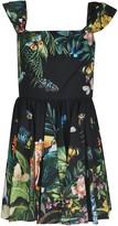 Dolce & Gabbana Bird Print Pleated Dress
