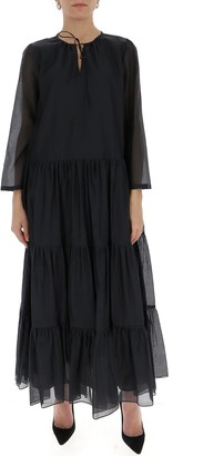 Max Mara V-Neck Maxi Dress