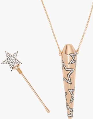 Diane Kordas Star Diamond & 18kt Rose Gold Amulet Necklace - Rose Gold