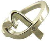 Tiffany & Co. Paloma Picasso 925 Sterling Silver Loving Heart Diamond Ring Size 5.75