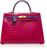 Heritage Auctions Special Collections Herms 35cm Rose Shocking & Ultraviolet Porosus Crocodile Sellier Kelly