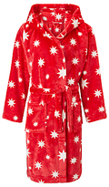 John Lewis Children's Star Print Dressing Gown, Red