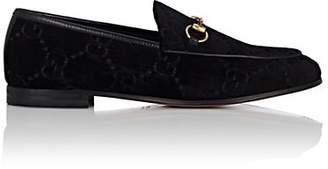 Gucci Women's Bit-Detail Velvet Loafers - Black