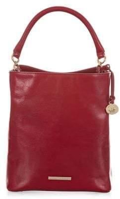 Brahmin Lava Topsail Amelia Leather Bucket Bag