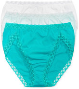 Natori Bliss 3-Pk. French-Cut Crochet-Trim Brief 152058MP