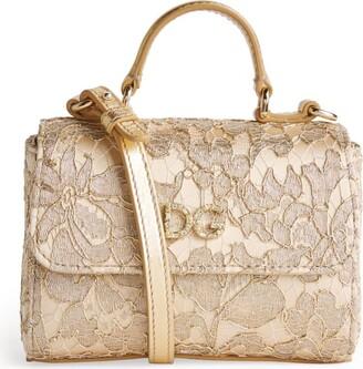 Dolce & Gabbana Kids Embellished Lace Shoulder Bag