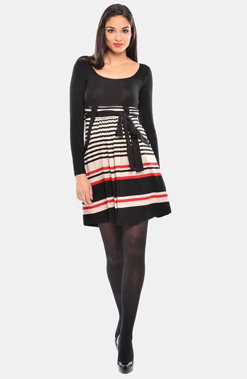 Olian Women's 'Kayla' Stripe Cross Front Maternity Tunic
