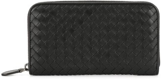 Bottega Veneta Pre-Owned Intrecciato zipped continental wallet