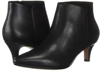 Clarks Linvale Sea (Black Leather) Women's Shoes